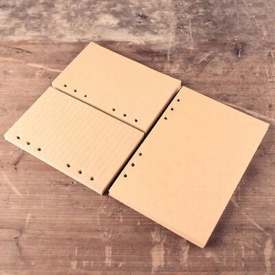 A5 A6 A7 Notebook Inner Loose Leaf Paper Blank Rule Ring Binder Vintage Kraft