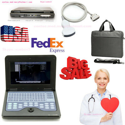 Fdaportable Laptop Machine Digital Ultrasound Scanner3.5 Convex Probeus Fedex