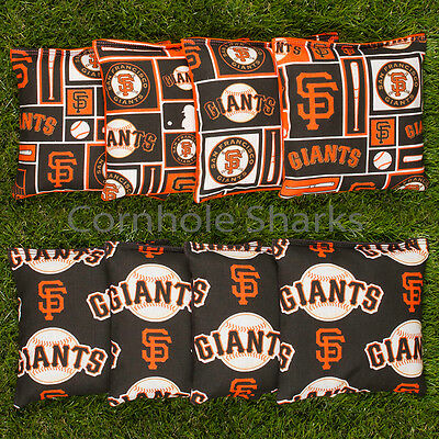 (ALL WEATHER Resin Washable San Francisco SF Giants ACA Cornhole Bean Bags )