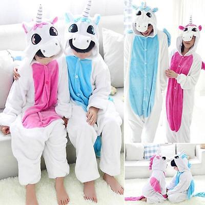 kids Adult Unisex Animal Onesi1 Costume Unicorn Kigurumi Animal Pajamas Cosplay (Animal Adult Costumes)