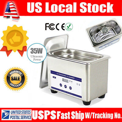 0.8L Digital Ultrasonic Cleaner Cleaning Bath Jewelry Eyeglasses Dental Parts