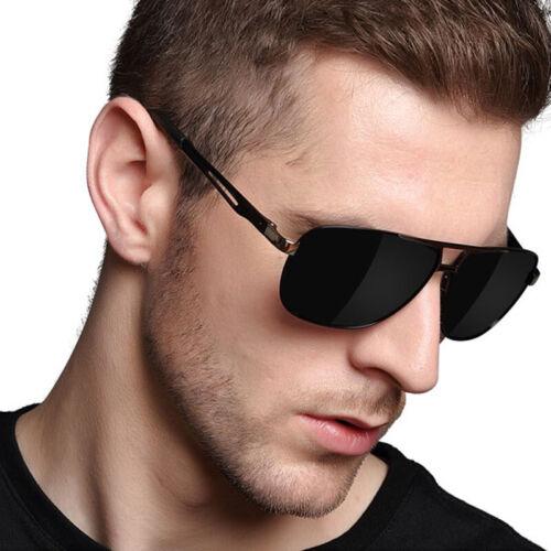 Herren Sonnenbrille Polarisiert Metal 100% UV 400 Luxusmarke Pilotenbrille