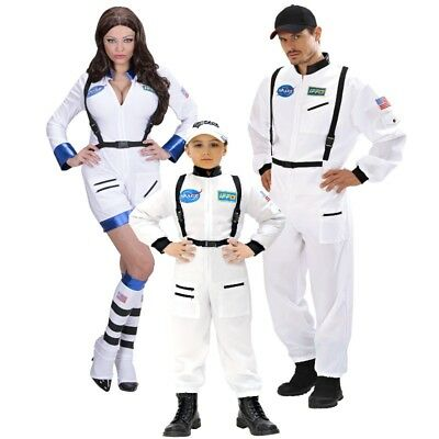 ASTRONAUT ASTRONAUTIN  Familien Kostüm für Damen Herren Jungen Raumfahrer - Herren Space Kostüm