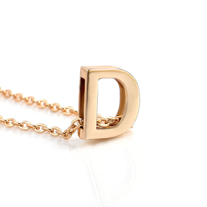 Fashion Womens Gold Plated Initial Alphabet Letter AZ Pendant Chain Necklace