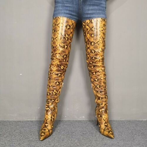 Details about  /Runway Women Fashion T Show Cosplay Cowboy Overknee Long Boots 35//44 Outdoor L