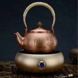 Copper Classic Teakettle Handmade Teapot Kettle Tea Hot Water Boiler Heater 032014