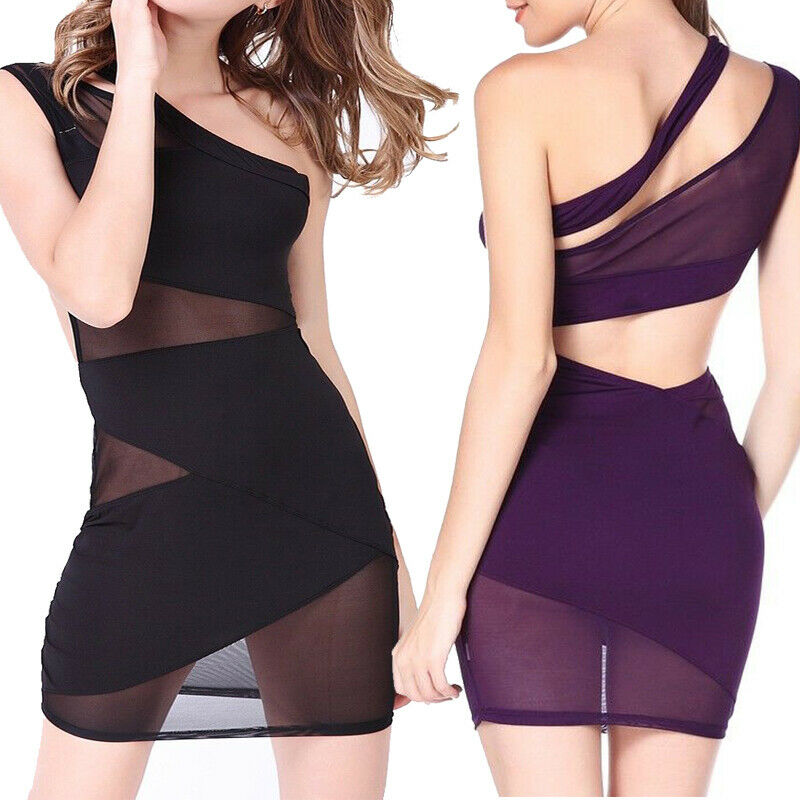 Sexy Lingerie Women Sleeveless Bustier Bodycon Clubwear Party Mini Dress US Clothing, Shoes & Accessories