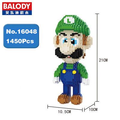 Bausteine Luigi Green Figure Modell Kinder Geschenk Baukästen Spielzeug