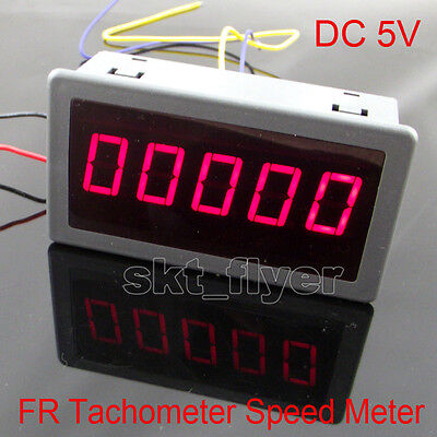 Dc 5v Frequency Motor Tachometer Rotate Speed Meter 100khz 0.56 Digital Red Led