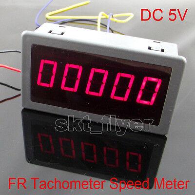 Dc 5v Frequency Motor Tachometer Rotate Speed Meter 100khz 0.56 Digital Red Led