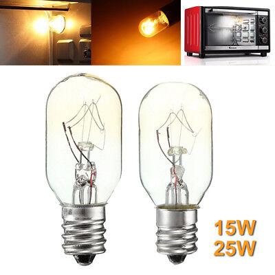 (E12 E14 Oven Lamps Cooker Heat Resistant Light Bulb 15W/25W 120V/220V)