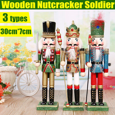 Hölzerne Nussknacker Soldat Handwerk Nussbaum Puppe Spielzeug Geschenk Weihnacht