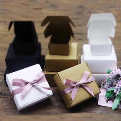 Vintage Kraft Cardboard Gift Box Handmade Soap Jewelry Craft Paper Box 10pcslot