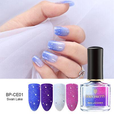 6ml BORN PRETTY Thermal Nail Polish Peel Off Sunlight Color Changing Purple Blue
