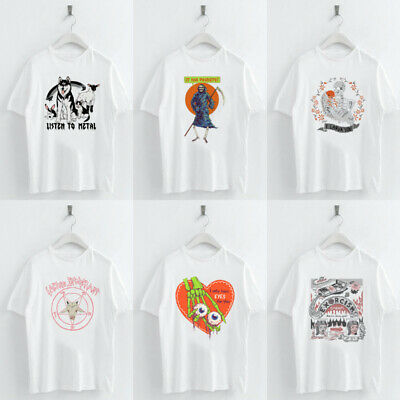 Women Summer Devil Print Tee Shirt Femme Funny T Shirt Tops Kawaii Streetwear Devil Womens Fit T-shirt