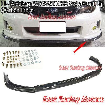 CS Type-2 Style Front Bumper Lip (Carbon) Fits 11-14 Subaru Impreza WRX STi
