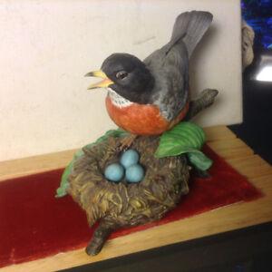 """Lenox Collectibles Garden Bird Figurine 1989 """"American Robin"""" GR"""