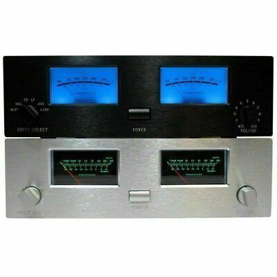 2X TN-90A VU Meter Head DB Level Audio Meter Chassis Power Amplifier W/Backlight