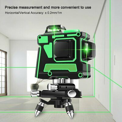 12 Lines 360 3d Green Laser Level Self Leveling Tool Horizontalvertical Cross