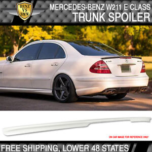 03-09 Benz E-Class W211 AMG Style Trunk Spoiler Painted Alabaster White #960