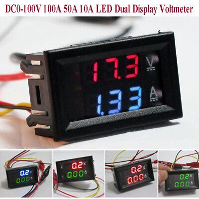 Dc0-100v 10a 50a 100a Voltmeter Ammeter Led Dual Digital Volt Amp Meter Gauge