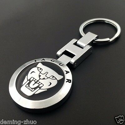 (Car Logo KeyChain Ring Metal Alloy Double Sided Keyring for JAGUAR Free Shipping)