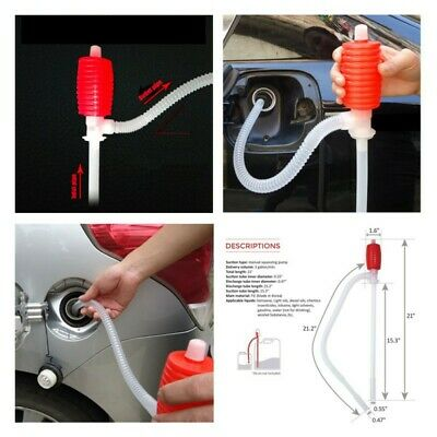 Portable Manual Car Hand Siphon Pump Hose Gas Oil Syphon Transfer Hose Pumps
