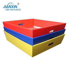 Factory Cheap Wholesale corrugated plastic tray rectangular
