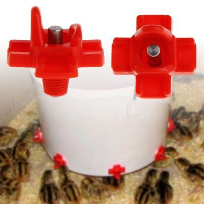 Chicken Feeder Automatic Drinking Devices Farm Poultry Water Drinker (Poultry Farm Supplies)
