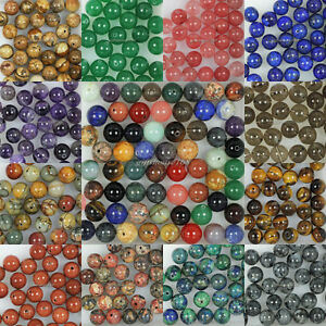 Wholesale-Natural-Genuine-Stone-Gemstone-Round-Spacer-Loose-Beads-4-6-8-10-12mm