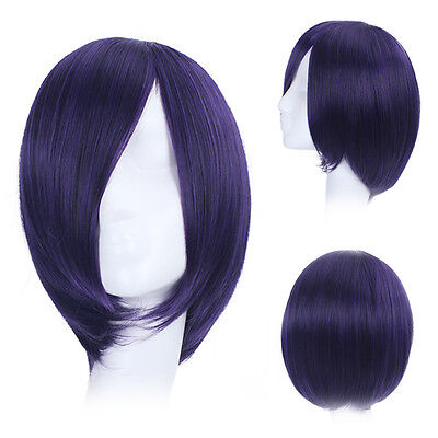 Tokyo Ghoul Touka Kirishima Toka Perücke wig Cosplay Kostüm Lila Blau Damen ()