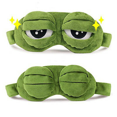 Sad Frog 3D Eye Mask Sleeping Rest Sleep Anime Funny Pepe The Frog  Cove Gift