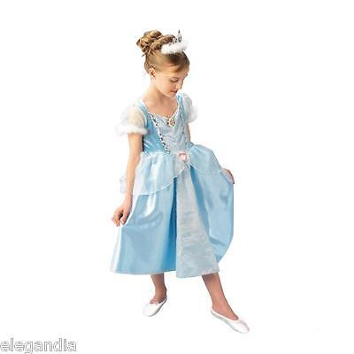 DISNEY Mädchen Kostüm Prinzessin CINDERELLA Deluxe Gr. M für 5-6 Jahre