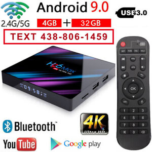 ANDROID 9.0 TV BOX Dual Wi-Fi - IPTV PLAYER - AIR MOUSE KEYBOARD
