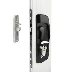 AUSTRAL Sliding Security Screen Door Lock (Aussie Made) *Black * W/cylinder*