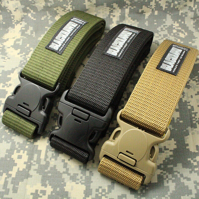 Adjustable Tactical Belt Wide Nylon Sport Combat Soldier Waistband Waist Belts Belts