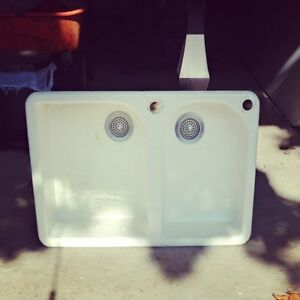 Kohler Cast Iron White Self Rimming Kitchen Sink