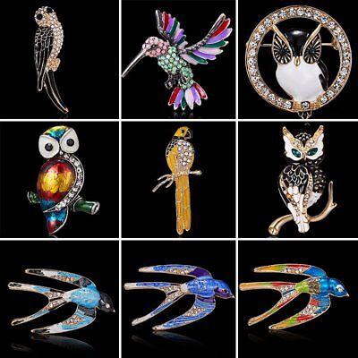 Wholesale Crystal Rhinestone Owl Birds Animals Brooch Pin Wedding Jewelry Gift (Owl Pin)