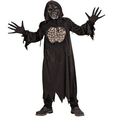 3tlg. Kostüm ZOMBIE DÄMON Skelett für Kinder Jugendliche - Dämon Kostüme Für Halloween