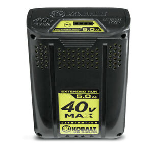 40-Volt MAX* 4Ah Lithium Battery long run.  Less than half price