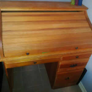 Wooden Roll Top Desk