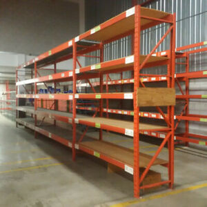 "RediRack warehouse racking frames - 10' all x 32"" wide"