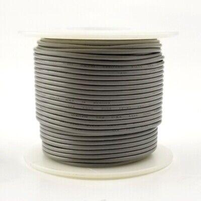 22 Awg Gauge Solid Grey 300 Volt Ul1007 Pvc Hook Up Wire 100ft Roll 300v