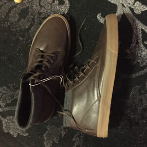 Mens Chukka Ankle Boot Brown Size 13Bonded Leather Ankle Casual