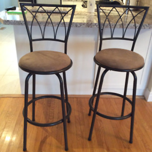 2 Swivel Stools Ideal for Kitchen or Bar