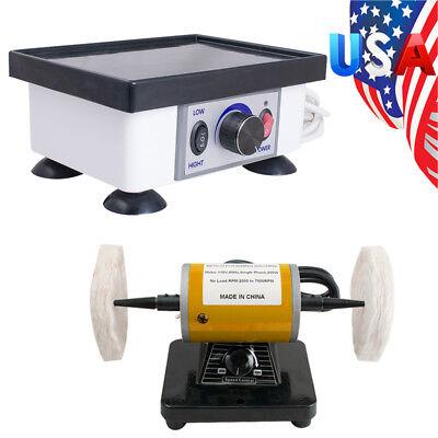 Dental Polishing Lathe Bench Polisher Machine Square Vibrator Model Oscillator