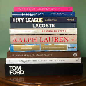 Hardcover Fashion Coffee Table Books [Prices In Ad]