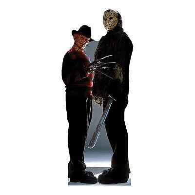 FREDDY KRUEGER & JASON VOORHEES Freddy vs Jason CARDBOARD CUTOUT Standup Standee](Stand Up Cardboard)