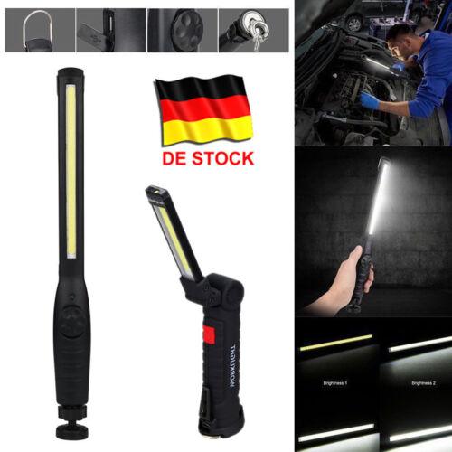 LED AKKU Arbeitslampe Werkstattleuchte USB Stablampe Magnet Handlampe Werkstatt