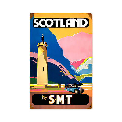 Vintage Style Retro Scotland by SMT Steel Sign 12 x18